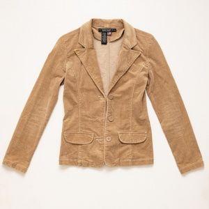 Rampage Brown corduroy denim blazer size Small